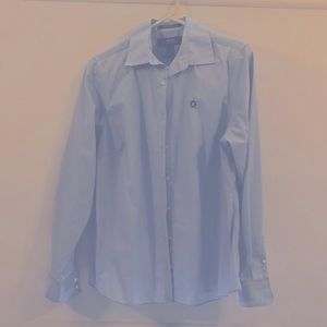 Chase Bank long sleeve button up shirt